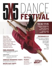 13th Annual 5x5 Dance Festival, Oct 16th, 2015